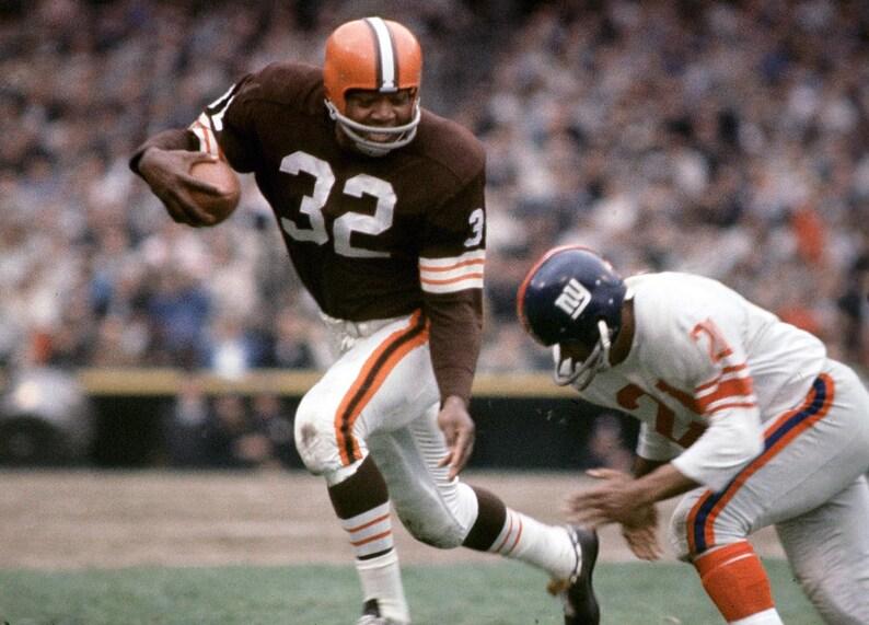 bdcf592d92d Jim Brown Cleveland Browns HOF unsigned 8x10 photo poster