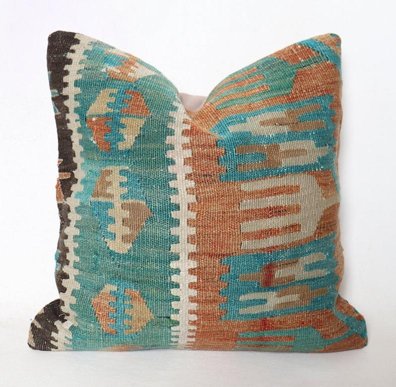 Pillow Pillow Decorative Kilim Pillow 16x16 Kilim Kilim Pillow Case Vintage Kilim Pillow 40x40 cm Cushion Cover Turkish Kilim Pillow