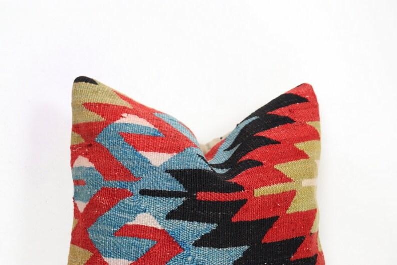 Vintage Kilim Pillow 16x16 Kilim Pillow Decorative Kilim Pillow Pillow Turkish Kilim Pillow Kilim Pillow Case 40x40 cm Cushion Cover