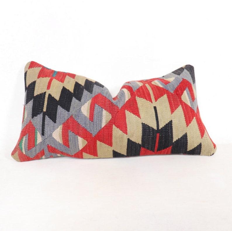 Lumbar kilim pillow.60x30.24x12 inc.Primitive Pillow Sofa Seat image 0