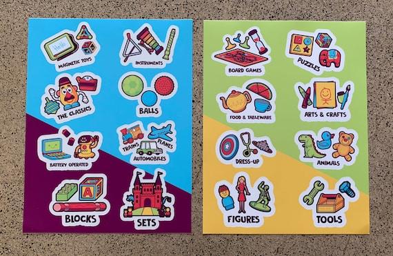 Vinyl Sticker for Toy Organizing ANIMALS Toy Organization Label Playroom Organizational Sticker
