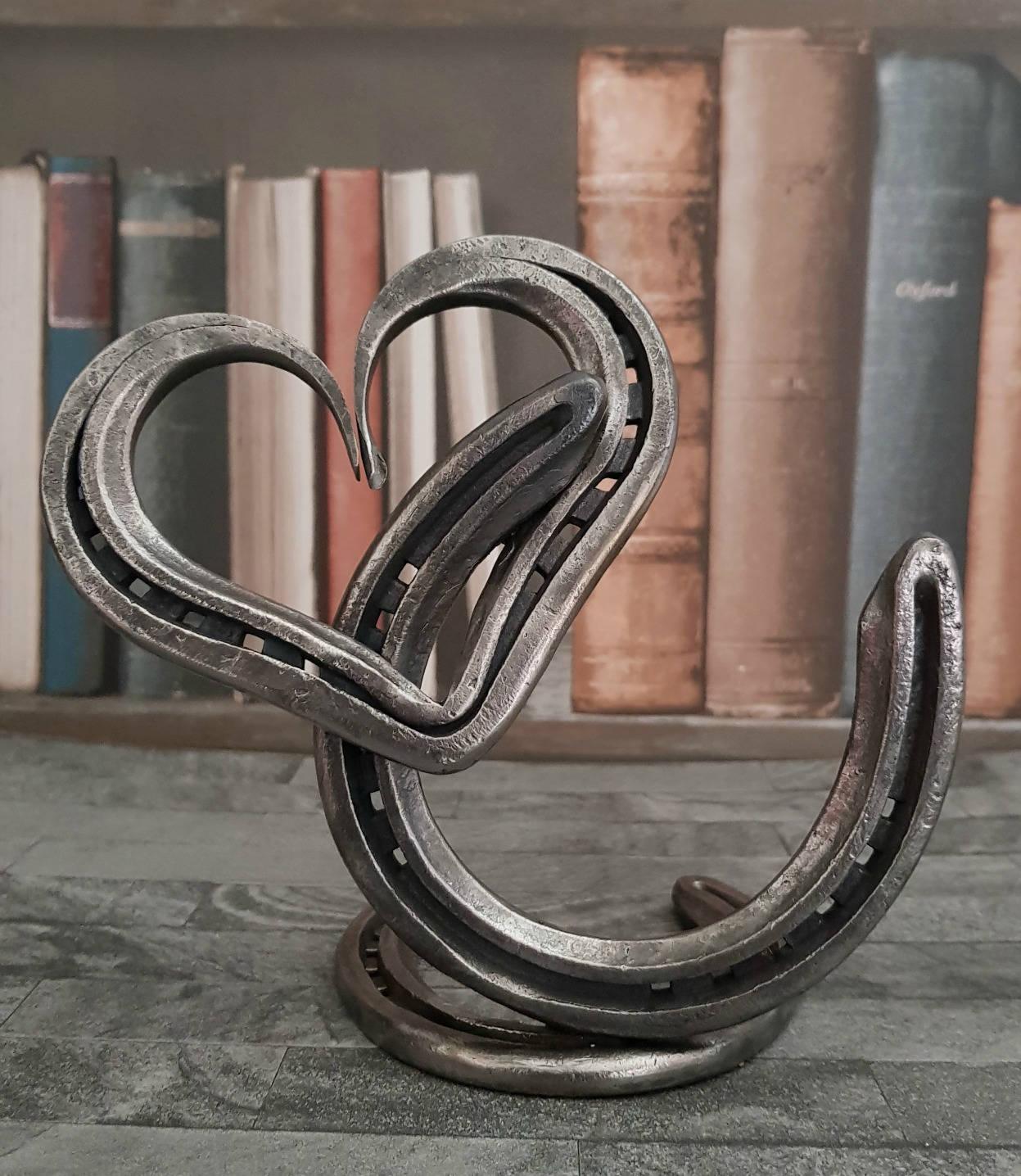 Liebe & Glück Hufeisen Herzen Charme Trophy Skulptur | Etsy