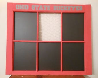 Ohio State Window Organizer, Buckeyes, Ohio State Buckeyes, Scarlet and Gray, Window Organizer