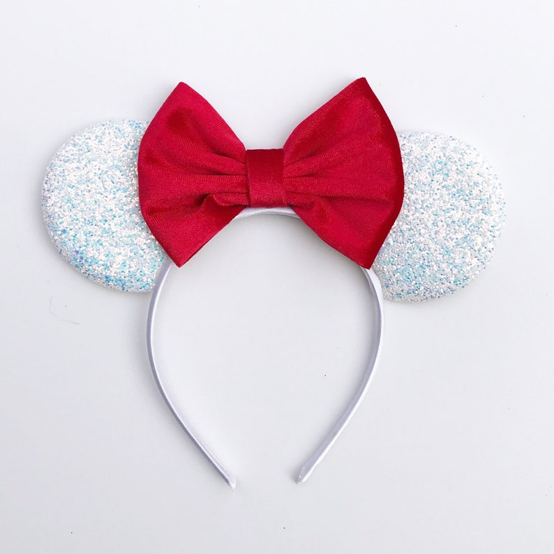 883a39d55a21 RTS Handmade Red Velvet Bow Mickey Minnie Inspired Mouse