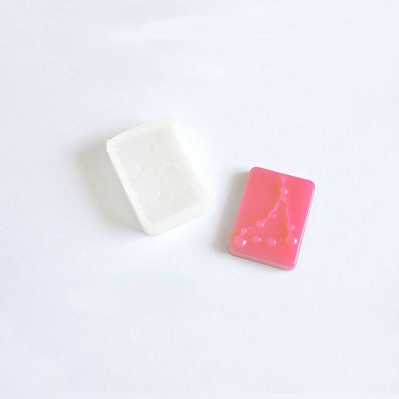 12 Constellations molds,square Pendant molds,Cabochon soft Silicone Mold,UV Resin Transparent Silicone Mold,uv resin mold,casting MD0013GWFS