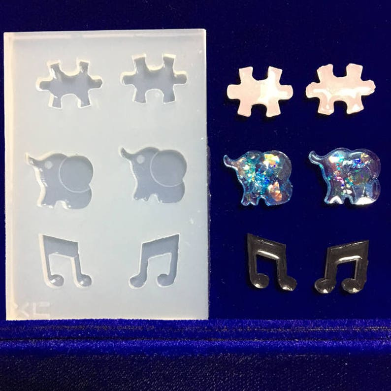 Animal Silicone mould,puzzle mold,elephant Silicone soft mould,musical note soft Silicone Mold,UV Resin Mold,resin mould,earring mold