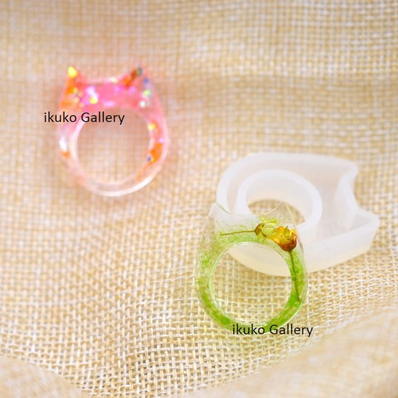 Cat Ring molds,Cabochon soft Silicone Mold,UV Resin Transparent Silicone Mold,resin mold,uv resin mould,casting mold,unicorn mold MD1131RGFS