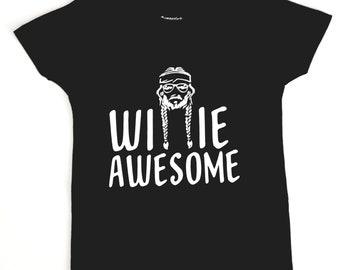 Willie Awesome, Willie Nelson shirt, Baby Onesie, Baby boy, Baby girl, Onesie