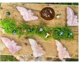 You Pick - Rose Quartz Crystal Fairy, Carved Goddess, Carving