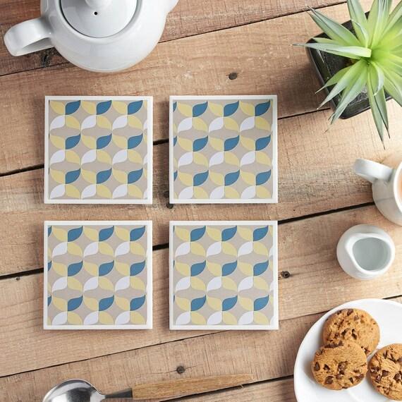 Retro - Geometric - Ceramic Coasters