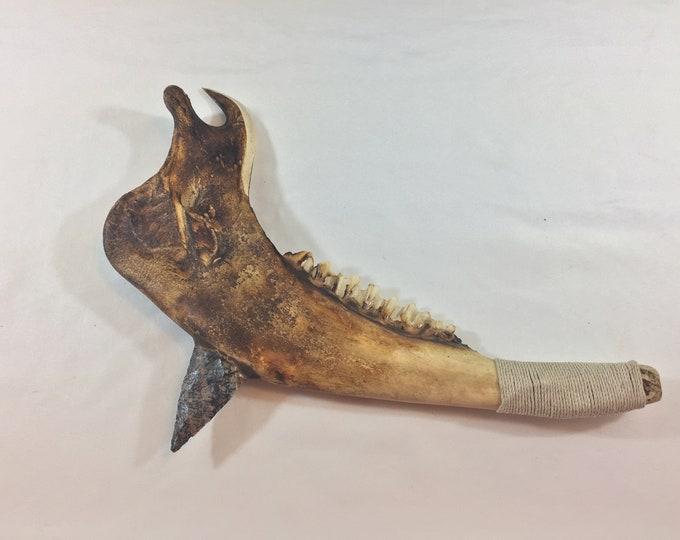 Buffalo Jaw Bone Tomahawk