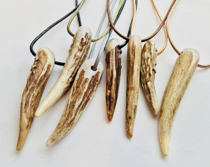 Handcrafted Whitetail Deer Antler Tine Necklace