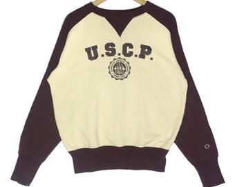 Rare!! Champion U.S.C.P Jaspo Crewneck Sweatshirt