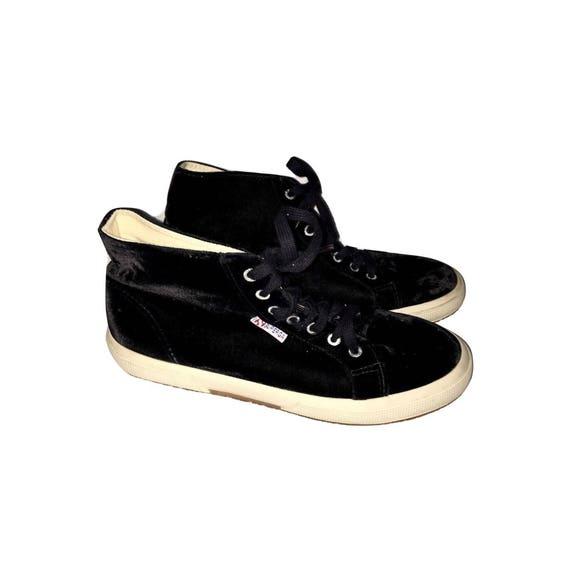 Vintage 90's Superga Velvet Sneakers, High Top Sne