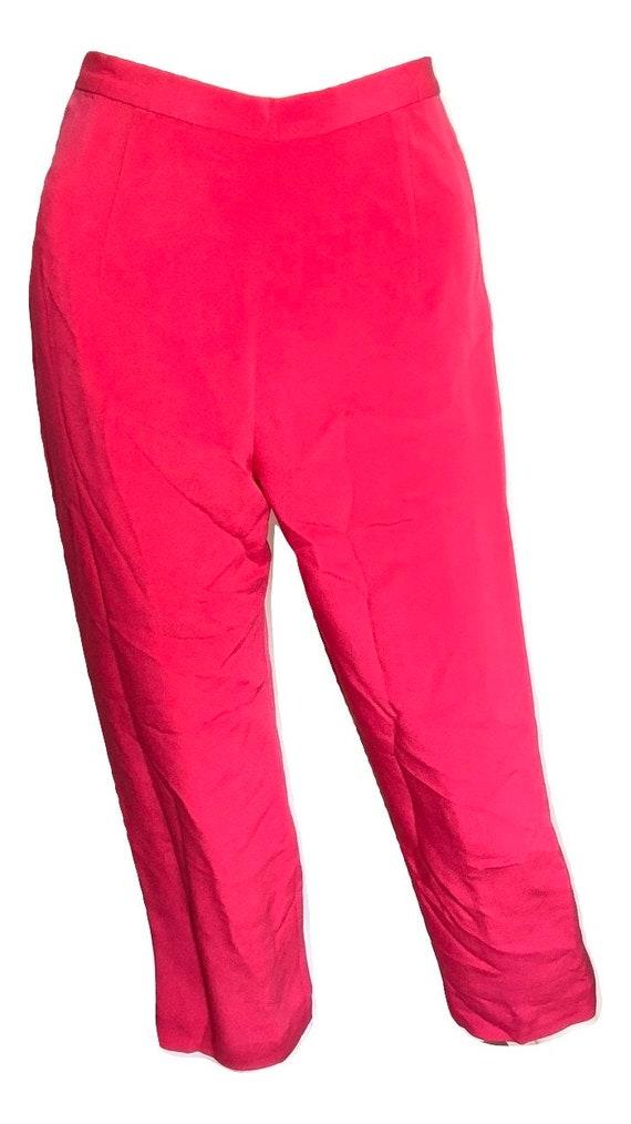 Vintage Hot Pink Silk Suit, Vintage Silk Suit, Pi… - image 5