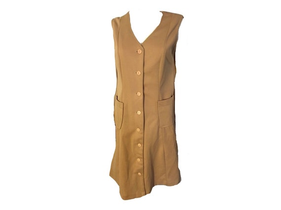 Vintage 70's Shirt Dress, Button Down Dress - image 1