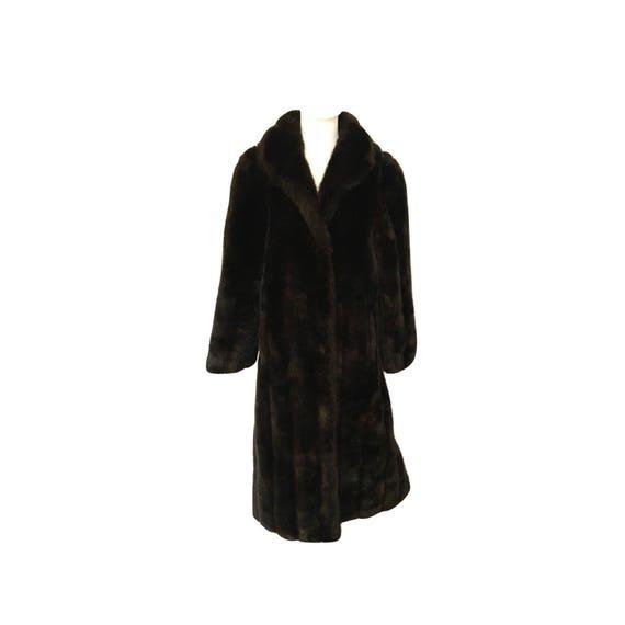 Vintage 80's Jordache Faux Fur Coat, Vintage Faux