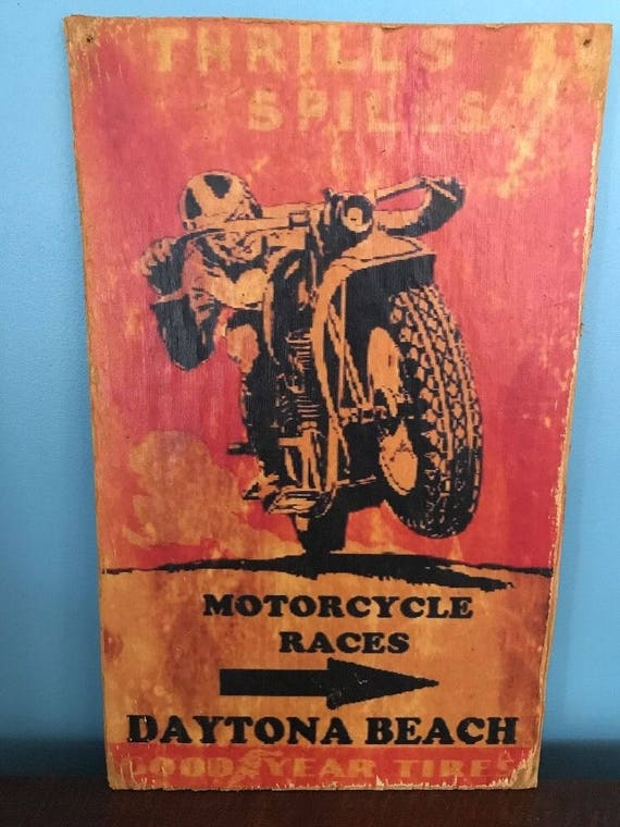 Bikers Only Retro Repro Rustic sign