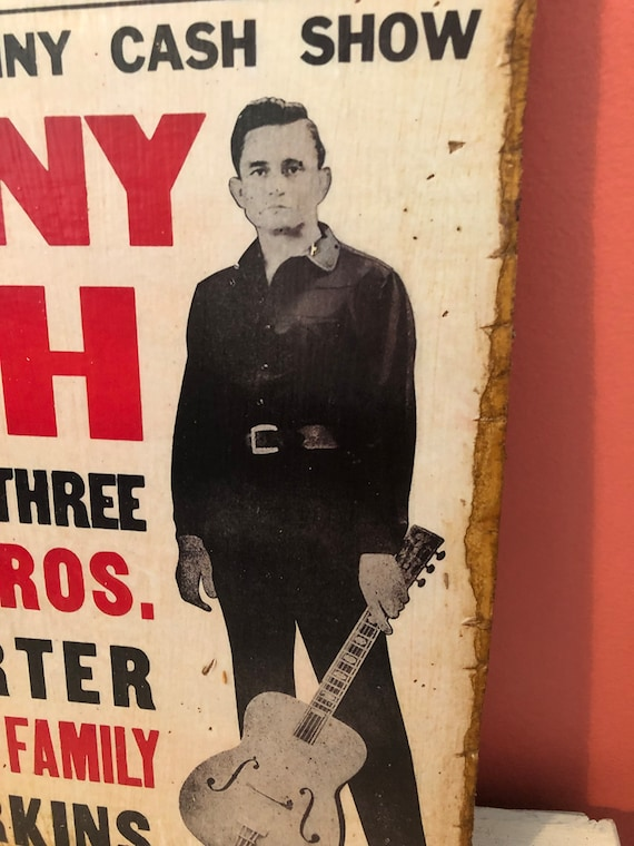 Rock and Roll Country Music Johnny Cash Concert Poster Sign