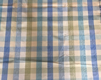 Fabric remnant Blue and green gingham check