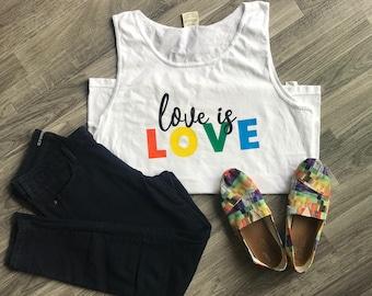 Pride Tank Top; Pride Shirt; Love Is Love; Pride Month; June; Rainbow; Gay Pride Shirt; LGBTQ; LGBT Pride Shirt; LGBT Clothing; Trendy