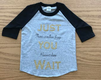 Hamilton Musical Youth Baseball Shirt, Just You Wait Alexander Hamilton Kid's T-Shirt, Broadway Musical Unisex T-Shirt; Baseball Style