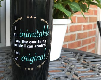 Hamilton Musical Wait For It Tumbler, Broadway Musical Tumbler, Hamilton Mug, Aaron Burr Wait For It, I Am Inimitable I Am An Original Cup