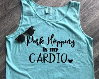 Disney Vacation; Park Hopping Is My Cardio; Park Hopper; Walt Disney World; Disney Inspired; Disney Parks Shirt; Workout Shirt; Disney Tank