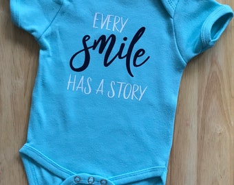 Cleft Palate Bodysuit; Cleft Lip; Baby Boy Bodysuit; Baby Girl One-Piece; Every Smile Tells A Story; Newborn; Coming Home Outfit