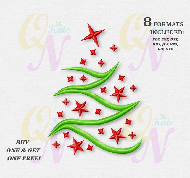 Bogo Free Christmas Tree Machine Embroidery Designs Etsy