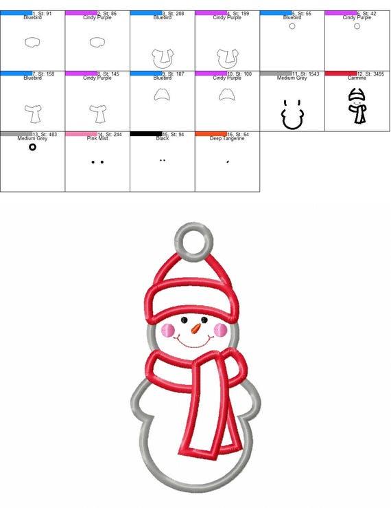 BOGO GRATIS Muñeco de nieve apliques bordado diseños | Etsy