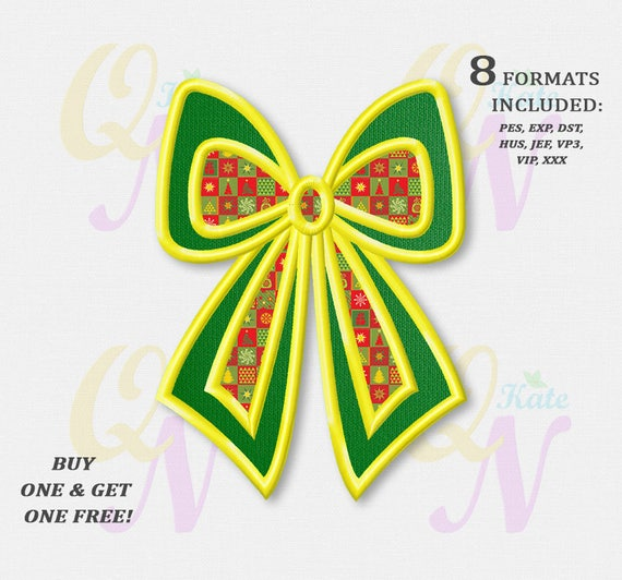 Christmas Embroidery Patterns Free.Bogo Free Christmas Bow Applique Embroidery Designs Christmas Machine Embroidery Designs Instant Download Holiday Designs 010