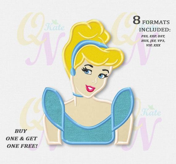 Bogo Free Cinderella Applique Embroidery Designs Princess Etsy