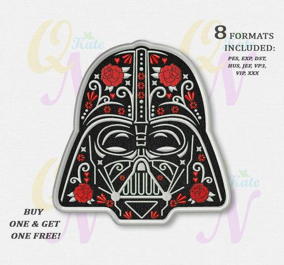 Bogo Free Darth Vader Applique Embroidery Design Star Wars Etsy