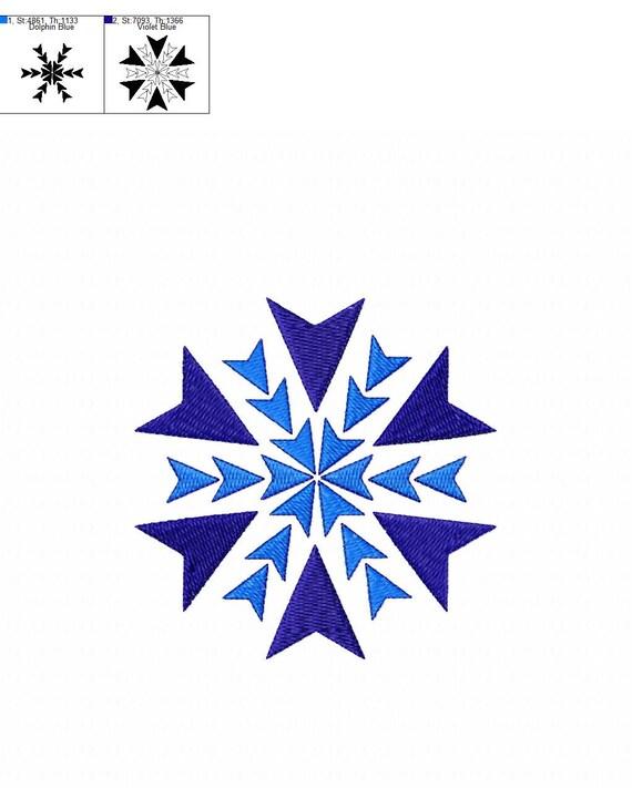 BOGO GRATIS Conjunto de tres copos de nieve bordados | Etsy