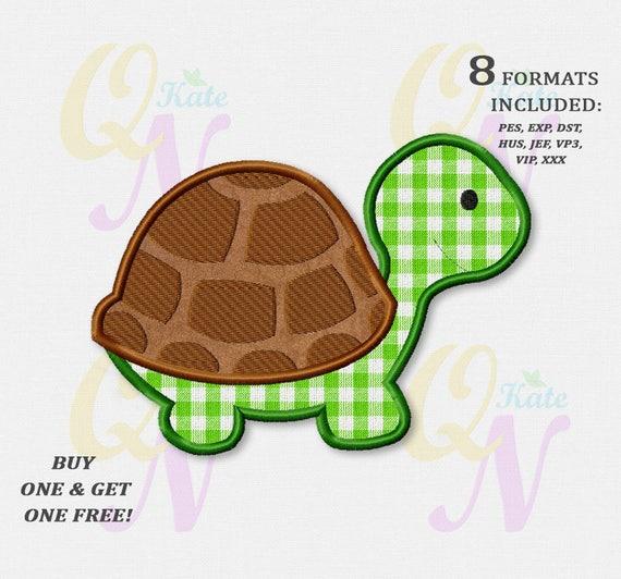 Bogo Free Turtle Applique Embroidery Design Turtle Machine Etsy