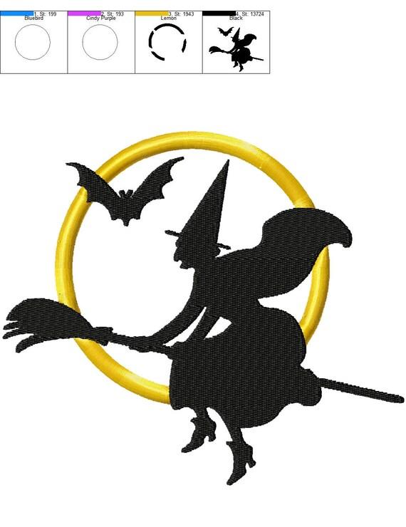 BOGO GRATIS Bruja Halloween apliques bordado diseño diseños | Etsy