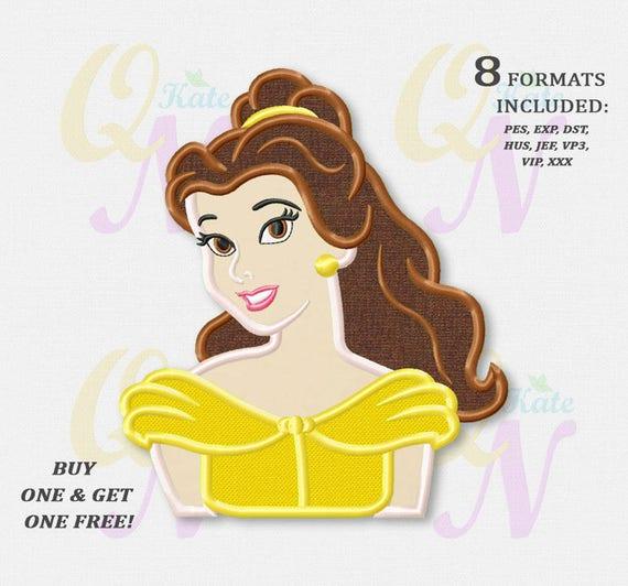 Bogo Free Belle Applique Embroidery Designs Disney Etsy