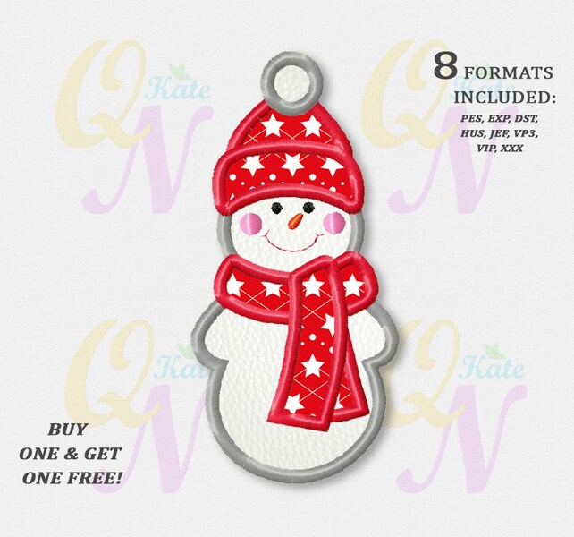 Bogo Free Snowman Applique Embroidery Designs Christmas Etsy