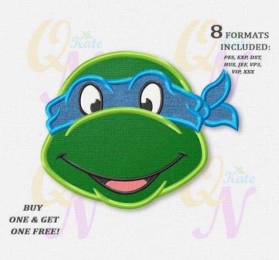 BOGO KOSTENLOS Ninja Turtle Applikation Stickmuster Ninja | Etsy