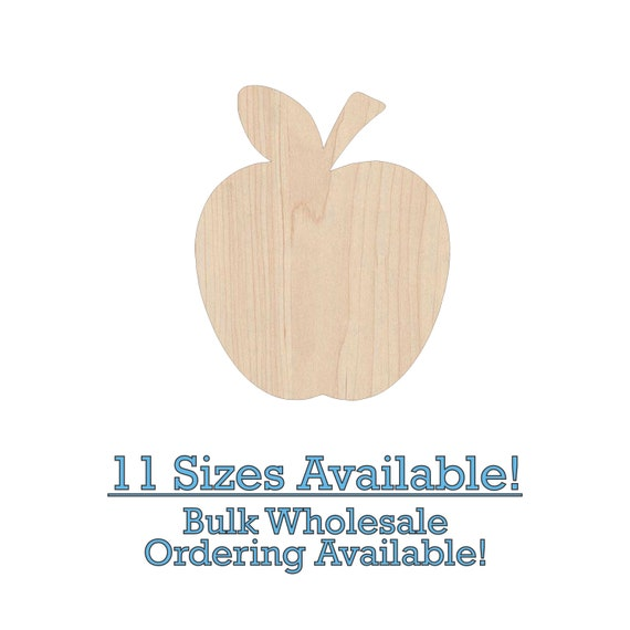 Apple Unfinished Wood Cutout Shapes Laser Cut Diy Craft