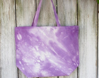 Large | Eco-Friendly | Reusable | Shopping Bag | Market Bag | Tote Bag | Tie Dyed | 100% Cotton Canvas | Made In USA
