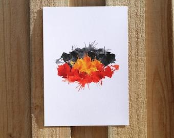 Watercolour Aboriginal Flag