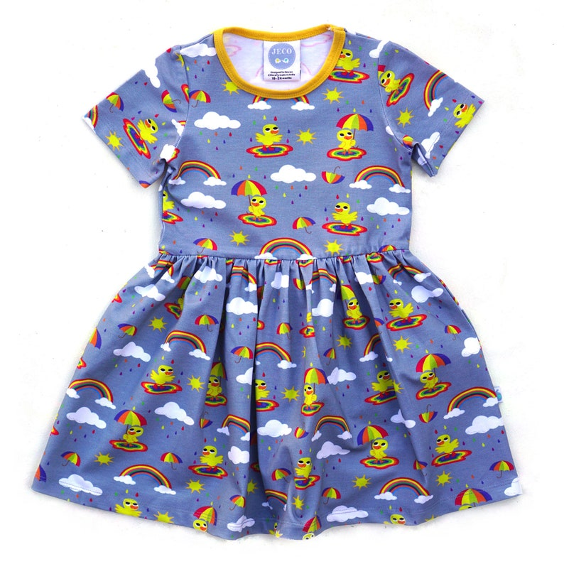 Ready to Ship Rainbow Duck Dress Organic Clothes Baby Dress Girls Dress,NEW /& Exclusive Toddler Dress