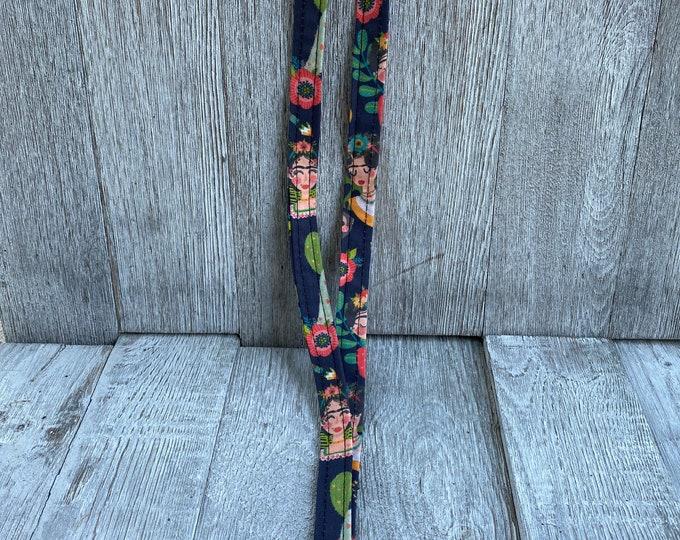 Frida Kahlo Lanyard Frida Kahlo keychain Frida Kahlo gift idea Stocking Gift idea Christmas gift Idea Stocking stuffer