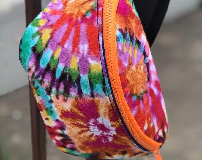 Tie dye fanny pack Tie Dye bag Tie Dye gift  Stocking Gift idea Christmas gift Idea Stocking stuffer