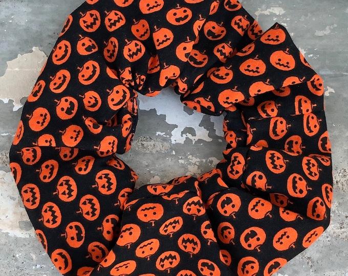 Halloween Hair tie Halloween scrunchie pumkin hair tie pumkin scrunchie