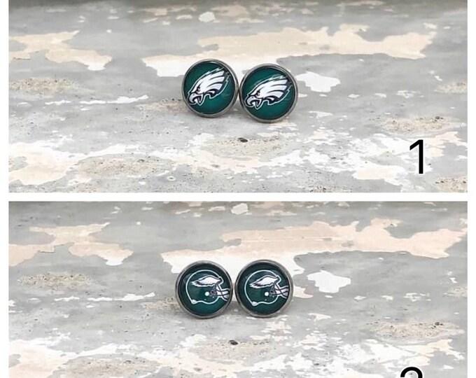Philadelphia Eagles earrings, Eagles stud earrings, Eagles hanging earrings Stocking Gift idea Christmas gift Idea Stocking stuffer