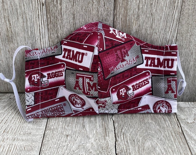 Texas A&M oversized  adult face mask