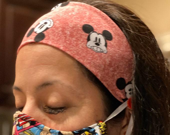 Face Mask Headband Face Mask support Mickey Mouse headband